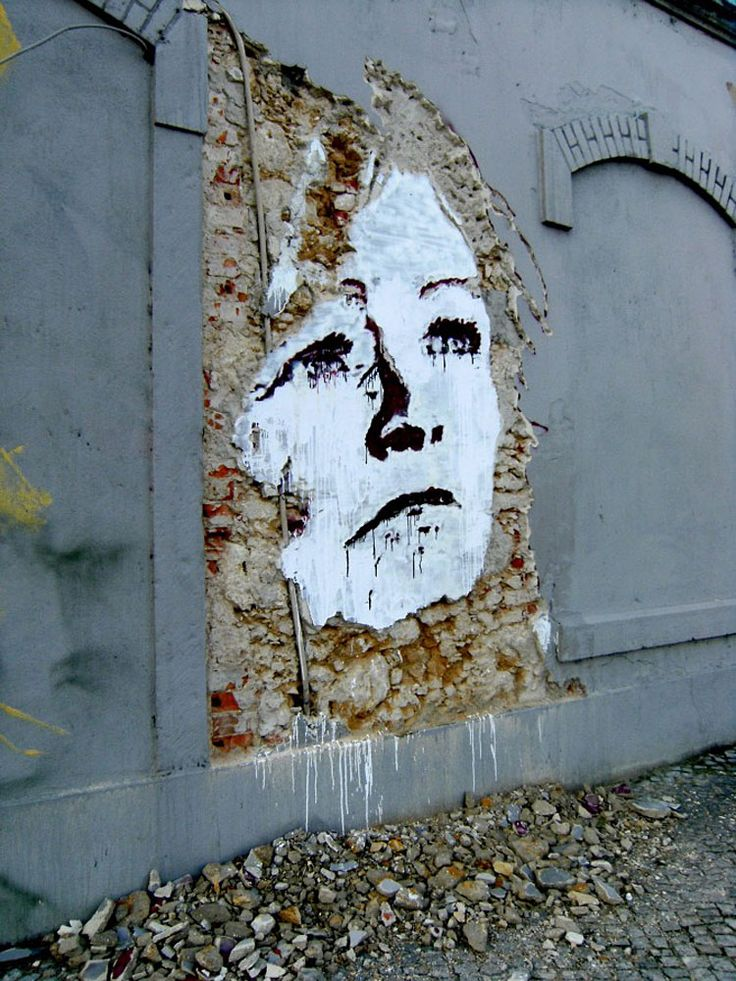 Portuguese artist, Alexandre Farto - Vhils, takes street art to a whole new level with his deconstructed street portraits