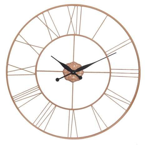 Copper Galvanised Clock | Dunelm