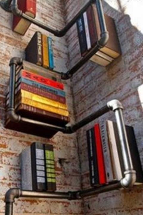 interesting bookshelf.  source unknown