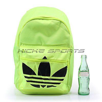Adidas Backpack Classic Trefoil Solar Yellow/Black Lifestyle Unisex 2016 AJ8531
