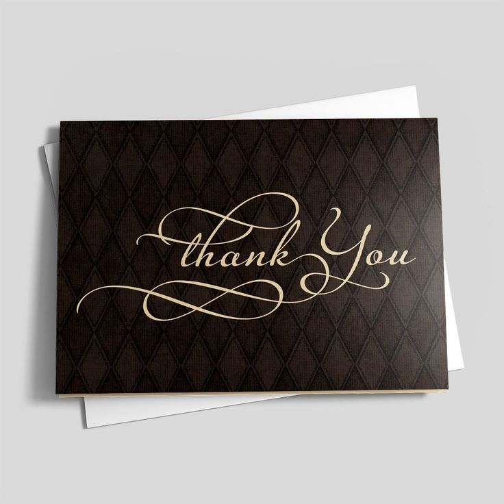64 best business thank you cards images on pinterest appreciation argyle thank you business thank you cardsswirl reheart Images