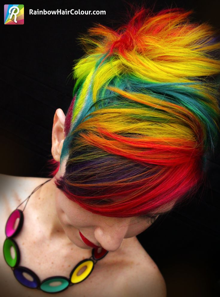 The Trade: Rainbow Mohawk for Rainbow Katwise inspired Dress #rainbowhair