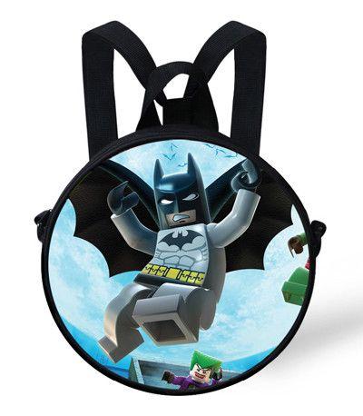 9-inch Hot Kids Backpack Kindergarten Bag Girls Cute Backpacks For Boys Cartoon Hero SuperMan Ninjago Round Bags For Children