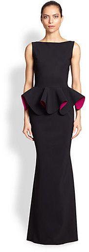 La Petite Robe di Chiara Boni Stretch Jersey Peplum Gown on shopstyle.com