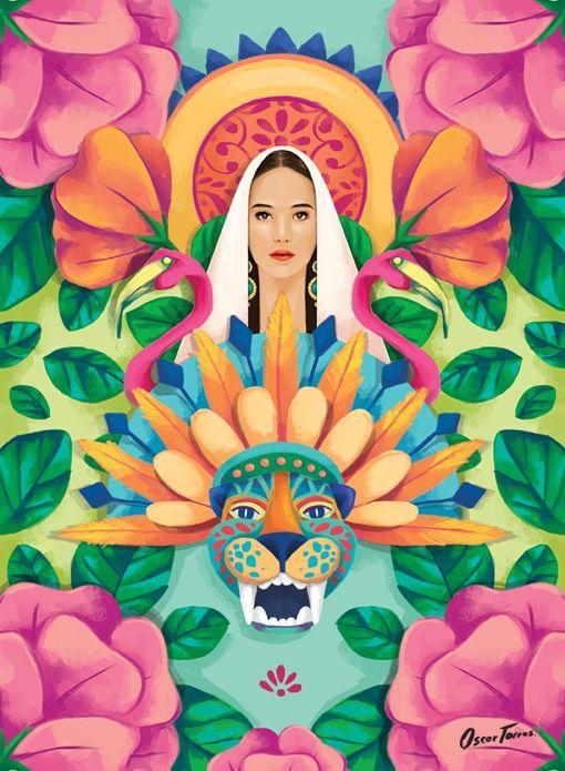 """Virgen Santa """"Guadalupe"""" by Oscar Torres"""