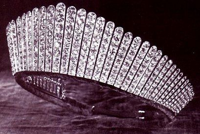 Queen Alexandra's Kokoshnik Tiara: The Ladies of Society, the 365 peeresses of the realm, gave this tiara to Queen Alexandra on the occasion of her silver wedding anniversary in 1888.