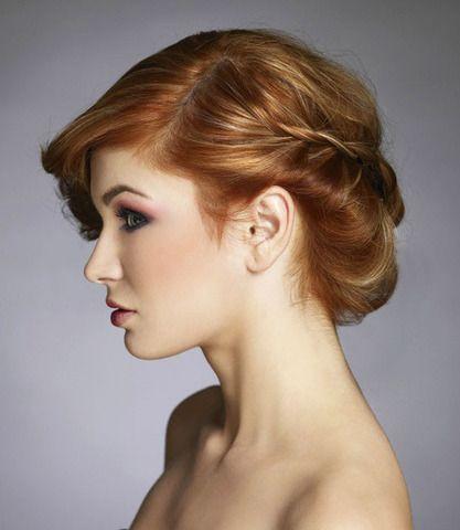 acconciatura sposa con chignon morbido capelli rossi