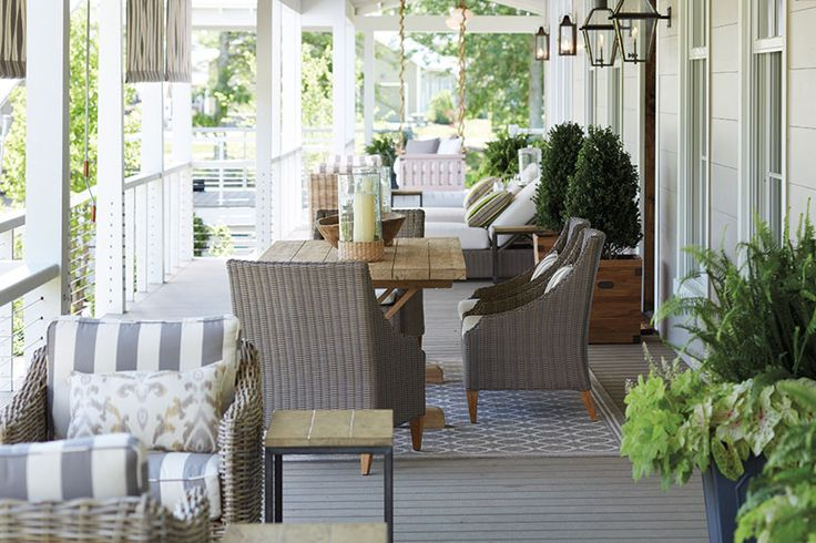 15 ways to arrange your porch chairs the o 39 jays and - Narrow porch decorating ideas ...