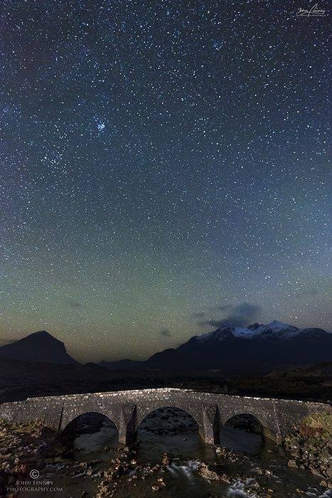 the old bridge at Sligachan on the Isle of Skye