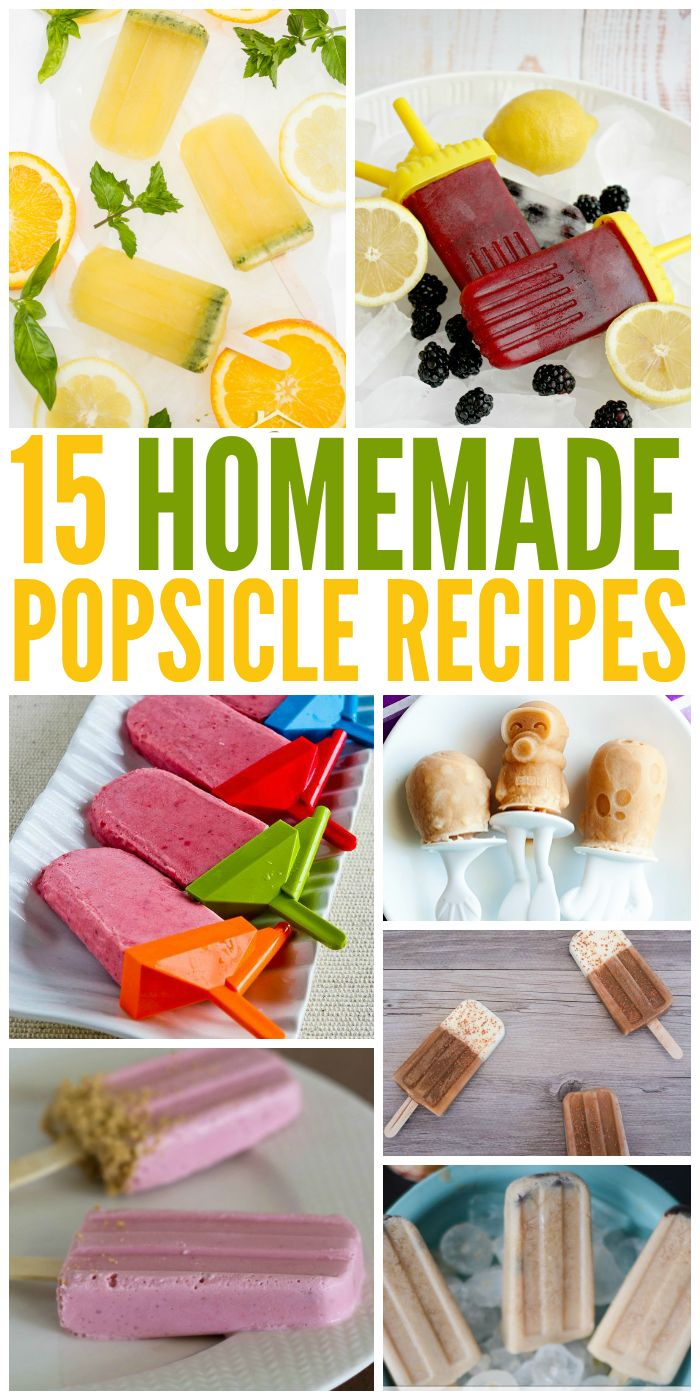 Cool down this summer with these easy and delicious homemade popsicle recipes. YUM!