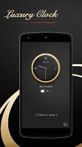 Тема CM Locker Роскошные часы скачать на Андроид бесплатно