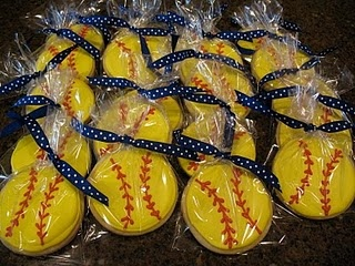 softball cookies for the team! I might have to try this one.....
