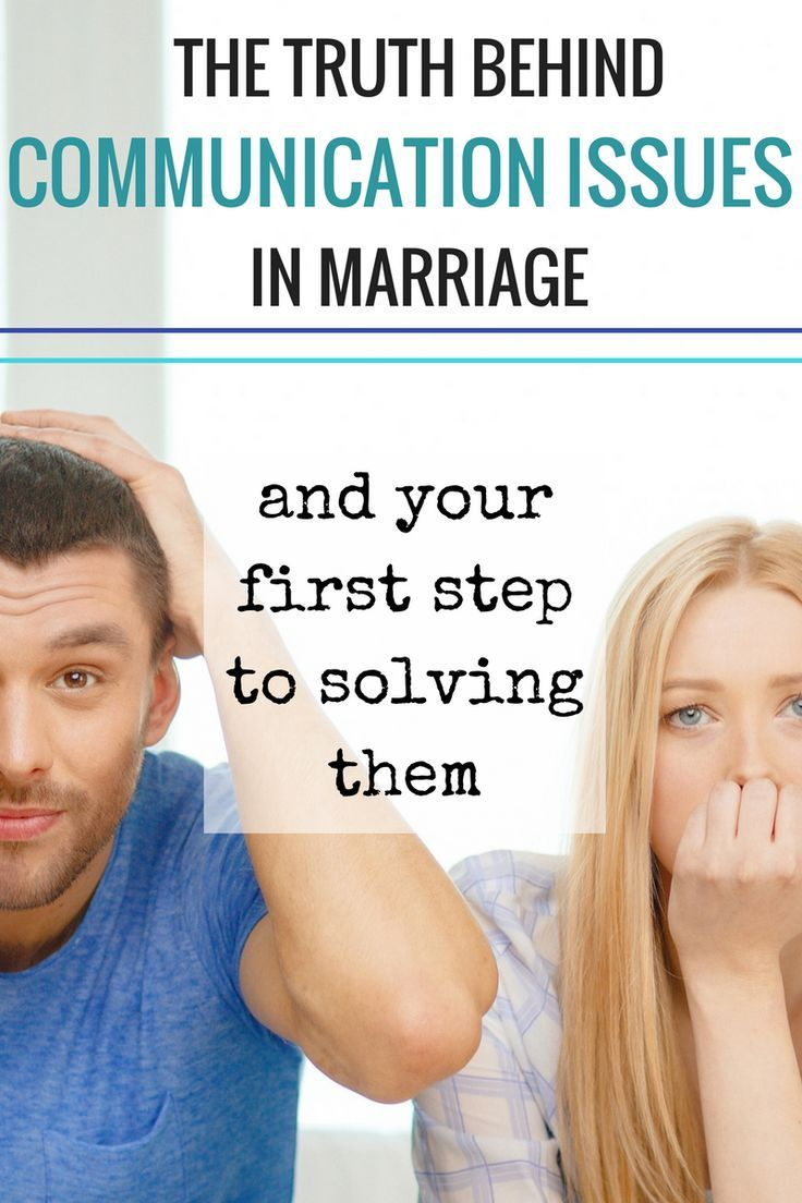 marriage and communication Even experienced couples have problems when it comes to basic issues such as communication in marriage it's easy for anyone to misread their partner's actions.