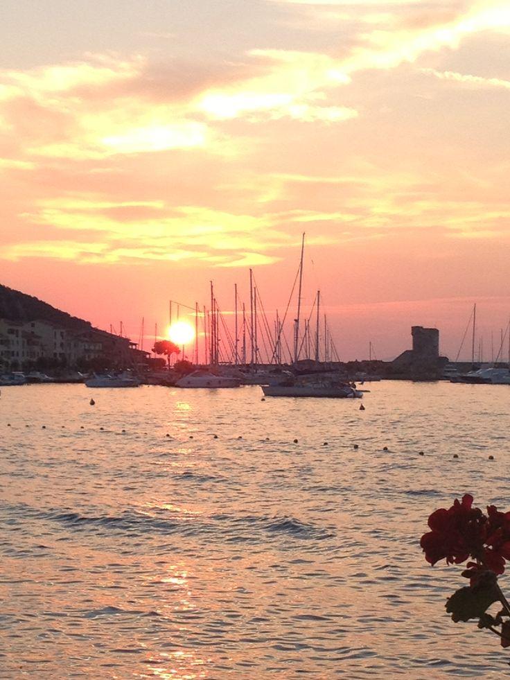 Sunset in Marciana Marina