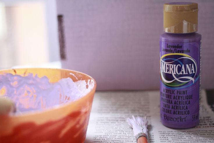 como hacer pintura de pizarra, DIY paso a paso Chalk Paint