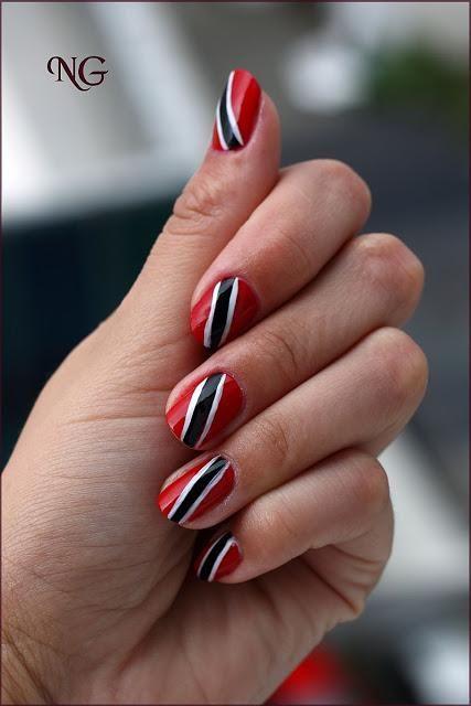 Trinidad and Tobago flag nails