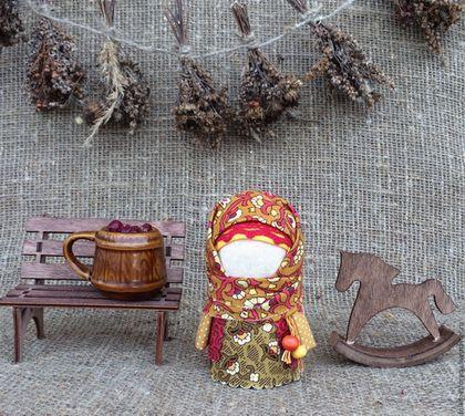 Народные куклы ручной работы. Ярмарка Мастеров - ручная работа. Купить Куколка Крупеничка-Зерновушка. Handmade. Оранжевый, народная традиция