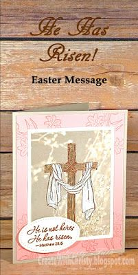 Complete instructions included in the blog post - Stampin' Up! Easter Message handmade card - Create With Christy - Christy Fulk, Independent SU! Demo