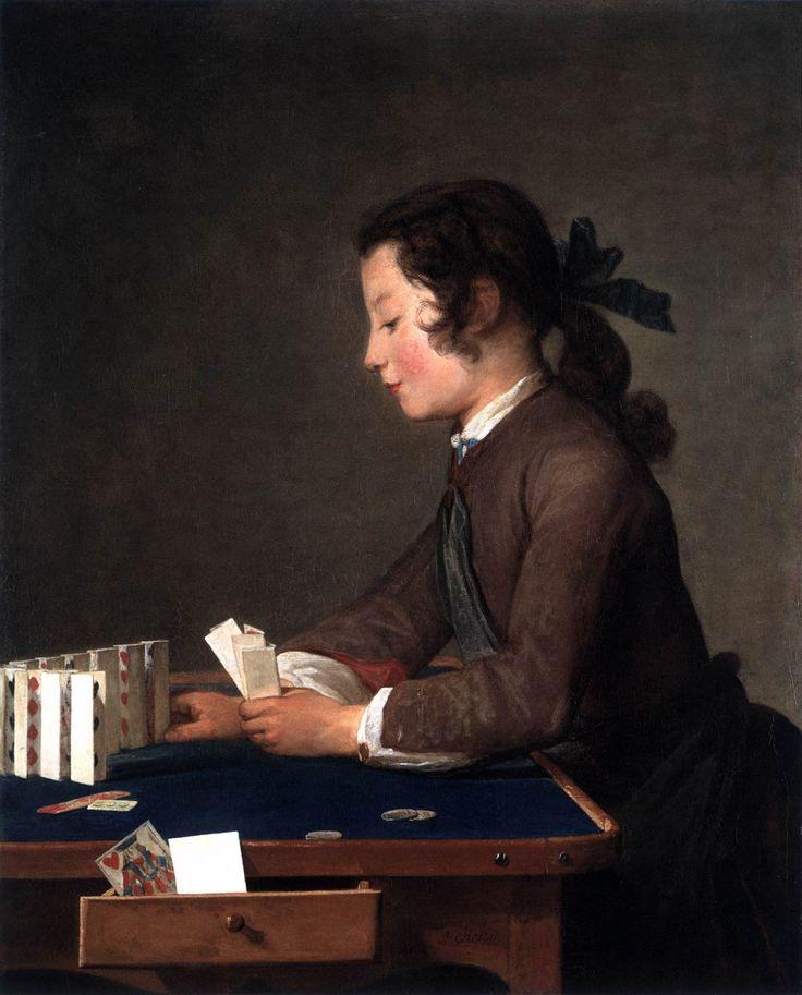 CHARDIN, Jean-Baptiste-Siméon The House of Cards 1737