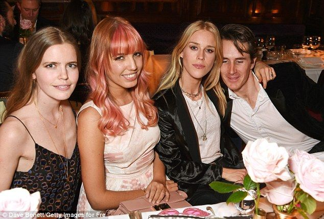 Good pals:(L to R) Katie Readman, Amber, Mary Charteris and Otis Ferry appeared to be in ...