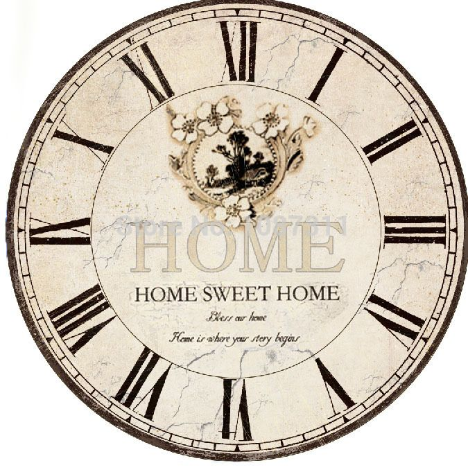 Fashion vintage silent clock wall ,fashion rustic large wall clock table,watch wall clock free shipping
