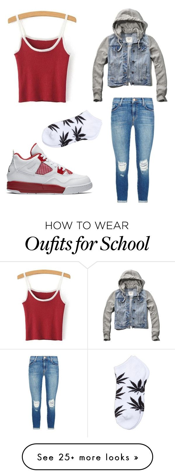 """""""Untitled #752"""" by tanasia2266 on Polyvore featuring NIKE, Abercrombie & Fitch and J Brand"""