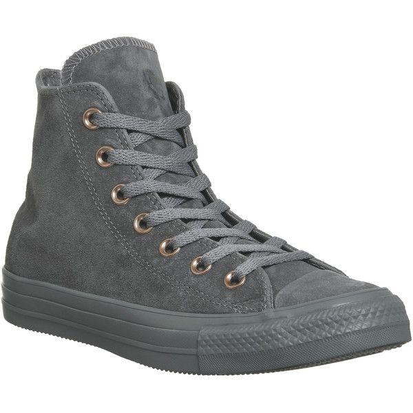 Converse All Star Hi Leather Mason Grey Stud Exclusive ($99 ...