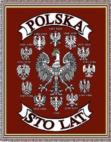 Polish Art Center - Polska - Sto Lat Historical Eagles Tapestry