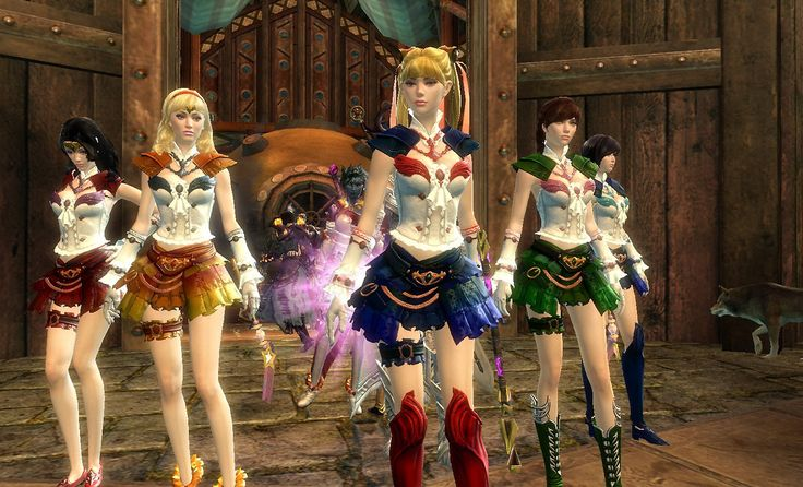Guild Wars 2 - the Sailor Scouts! This is so creative! Love it and love this game! :)