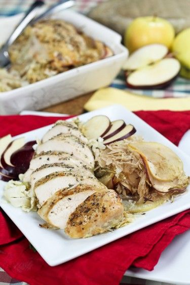 Apple and Cabbage Oven Baked Chicken Serves 2 INGREDIENTS 2 boneless ...