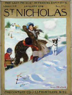 "Norman Rockwell's ""Girl in Snow With Dog,""1916 