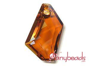 Austrian Swarovski Crystal Elements 6670 De-Art Pendant 24mm - Copper