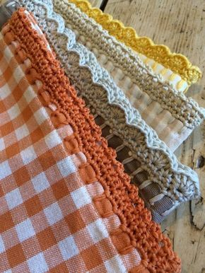 How to add a crochet edging: start with a blanket stitch, then crochet onto that base. LoveCrochet blog   <3