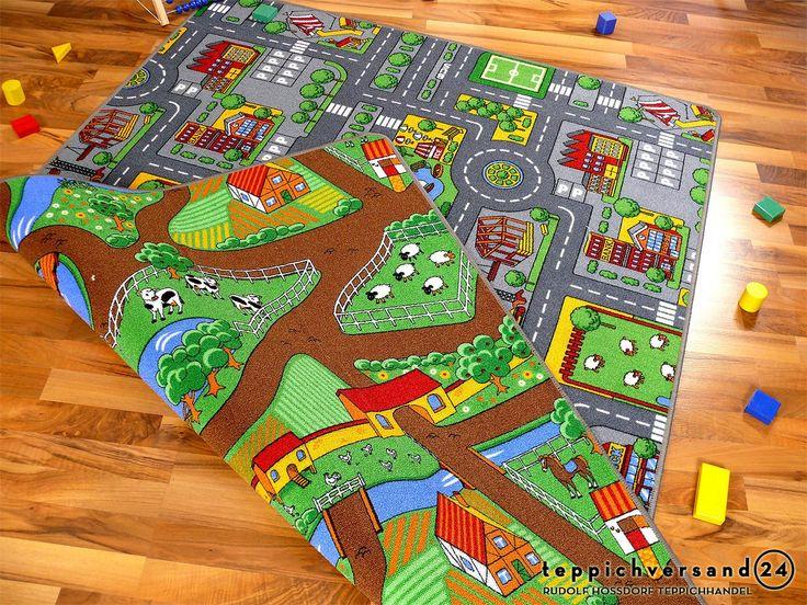 Best Stra enteppich Beidseitig mit zwei Stra enlandschaften Teppiche Kinder und Spielteppiche Kinderteppiche Lernen und Spielen