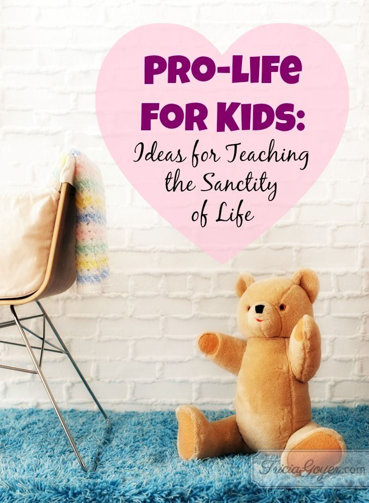 It's never too early to teach our children. Here are numerous ideas for parents on how to teach children at each stage of development about the sanctity of pre-born life.  Starting from infancy, build a foundation of truth. To help you out, you can download a free printable!