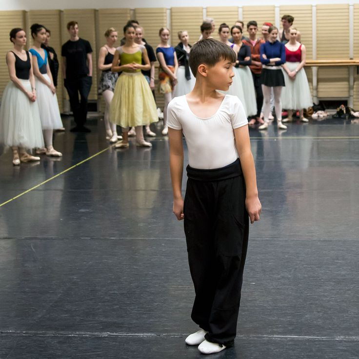 James, ITP student of The Australian Ballet School rehearsing with The Australian Ballet.