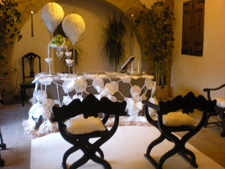 Decoración boda civil.