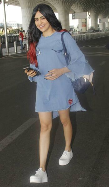 Adah Sharma in a Koovs dress