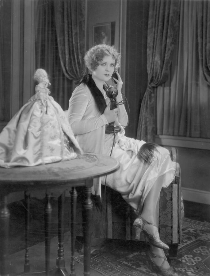 Telephone Call, 1920s Photograph  - A Still from a silent movie, American, 1920s. ARTIST: Granger