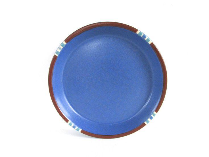 Dansk Mesa Blue Side Plates, Modern Southwestern Stoneware Salad Plates by HerVintageCrush on Etsy