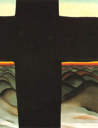 Black Cross, New Mexico by Georgia O' Keeffe at the Art Institute, Chicago