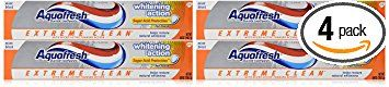 Aquafresh Extreme Clean Whitening Action Toothpaste, 5.6-Ounce (Pack of 4) Review