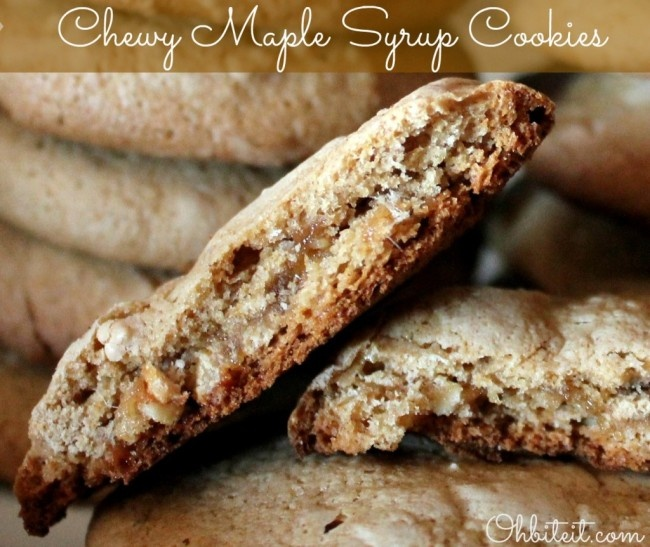 Chewy Maple Syrup Cookies!Syrup Cookies, Add Bacon, Cake Mixed, Sweets Treats, Cookiesbrowniesand Bar, Cookies Recipe, Chewy Maple, Yummy Cookies, Maple Syrup