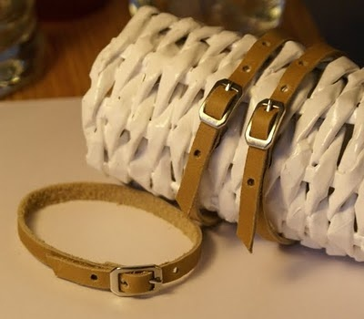 simple but cute-leather bracelets with lenght regulation