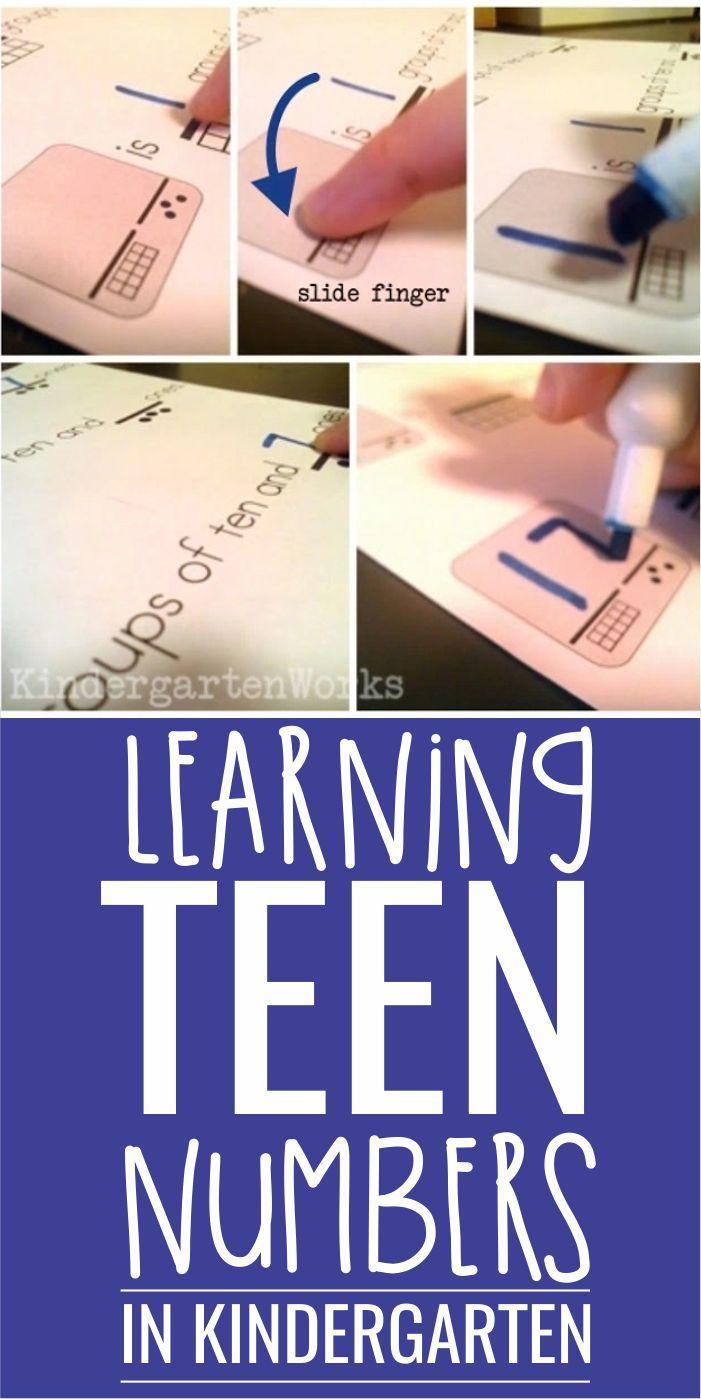 how to teach tens and ones to kindergarten