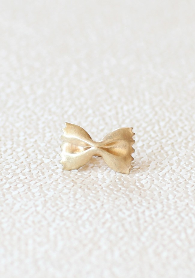 $9.99 - Bow Delight Ring   Modern Vintage New Arrivals: Bow Delight, Delight Ring, Bow Ties, Bowtie Pasta, Bowties, Bows, Bow Rings