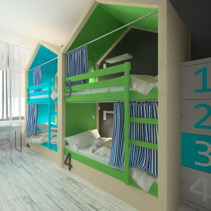 Двухъярусная кровать Скандинавский дом
