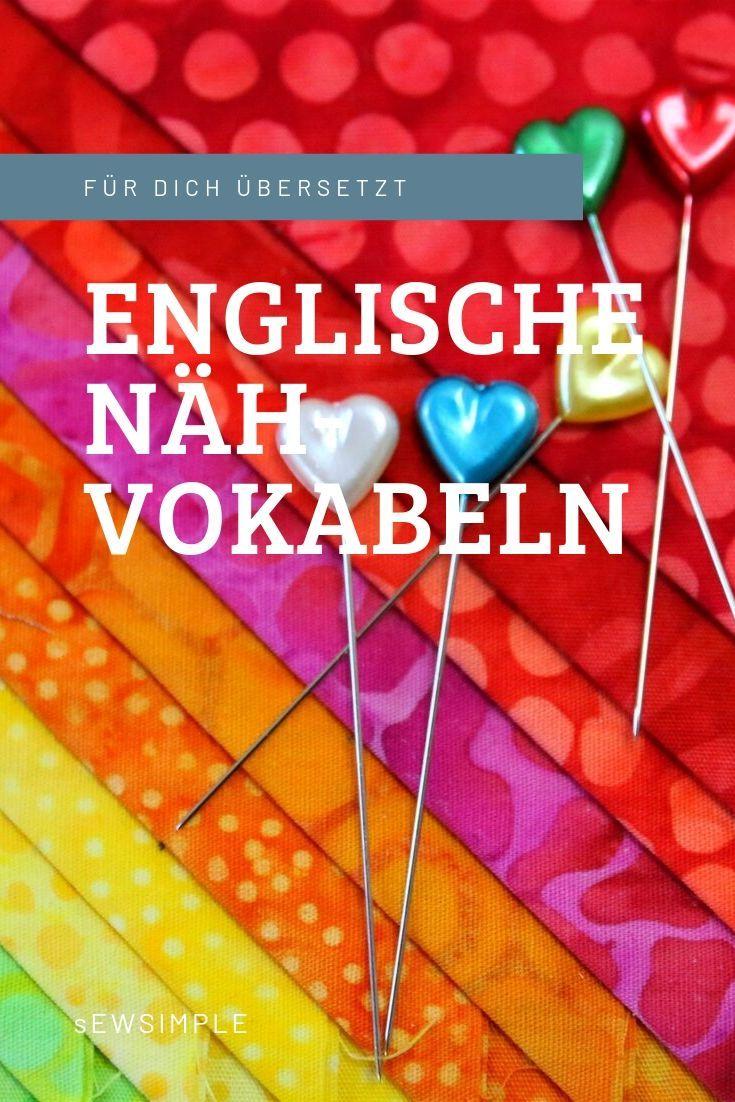 Easy: Englische Nähbegriffe übersetzen