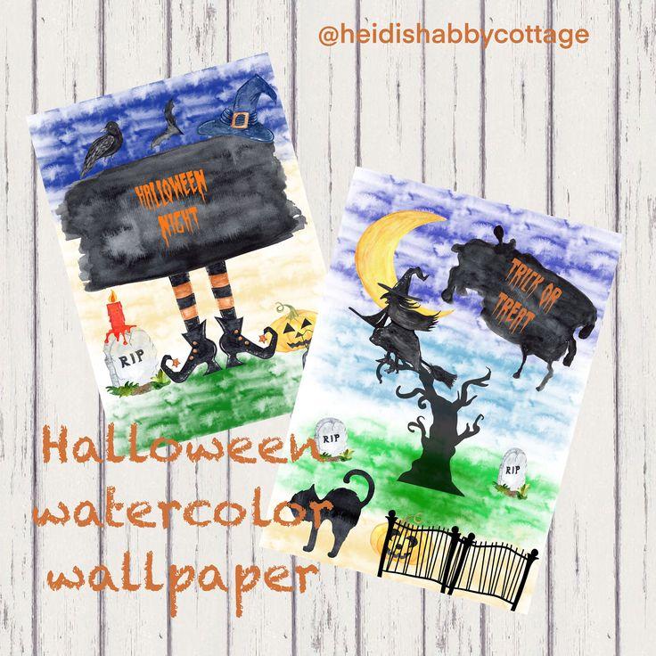 Halloween watercolor Wallpapers