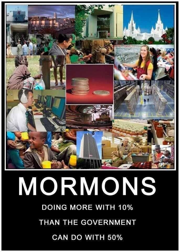 Mormons...doing it right.